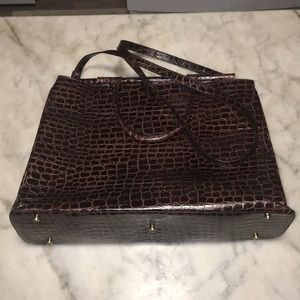 Brahmin Gretchen Croc Embossed Leather Tote